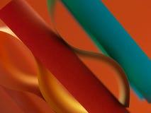 Farbiges Papier des Auszuges auf orange Hintergrund Lizenzfreies Stockbild
