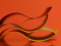 Farbiges Papier des Auszuges auf orange Hintergrund Stockfotos