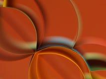 Farbiges Papier des Auszuges auf orange Hintergrund Stockbilder