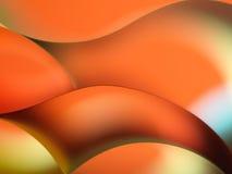 Farbiges Papier des Auszuges auf orange Hintergrund Lizenzfreie Stockfotografie