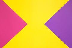 Farbiges Papier in geometrischem Stockfotografie