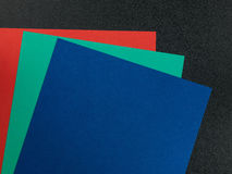 Farbiges Papierkarten-Hintergründe mit Kopien-Raum Lizenzfreies Stockbild