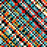 Farbiges Pixelmuster in der Retrostilvektorillustration lizenzfreie stockfotografie