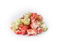 Farbiges Popcorn Stockfotografie