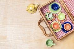 Farbiges Porzellan Stockbilder