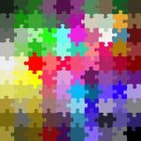 Farbiges Puzzlespiel lizenzfreie abbildung