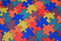 Farbiges Puzzlespiel Stockfotografie