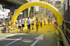 Farbiges Rennen in Genua Lizenzfreie Stockfotografie