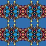 Farbiges repited Muster im Weinlesezauntritt lizenzfreies stockbild