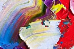 Farbiges Schmieröl-Segeltuch Stockfotos