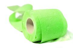 Farbiges Toilettenpapier-Frühlingsgrün Lizenzfreies Stockfoto