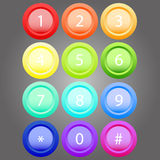 Farbiges Volumen knöpft Regenbogenfarben Lizenzfreies Stockfoto