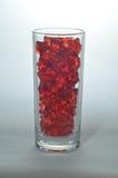 Farbiges zerquetschtes Eis in einem Glas Stockfotos