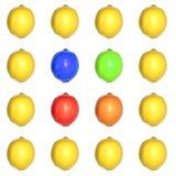 Farbiges Zitrone-Rasterfeld Lizenzfreie Stockbilder