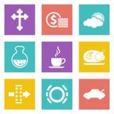 Farbikonen für Webdesign stellten 31 ein Lizenzfreie Stockfotografie