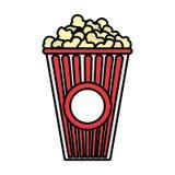 Farbköstliches Popcornsnack-food im Kasten vektor abbildung
