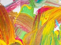 Farbkünste, die auf Papierhintergrundzusammenfassung malen Lizenzfreie Stockfotografie