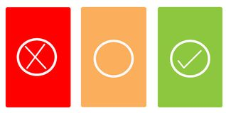 Farbkarten mit Symbolen Lizenzfreies Stockfoto