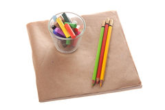 Farbkreide auf Papier Stockfotos