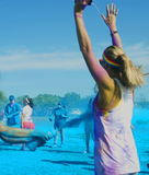 Farblauf Stockbild