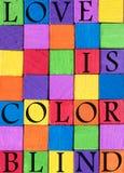 Farbliebes-Zitathintergrund Lizenzfreie Stockfotografie