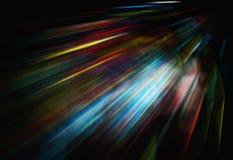 Farblinie auf Geschwindigkeit Stockfotografie