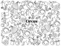 Farbloser Satzvektor des Zirkusses Lizenzfreie Stockfotografie