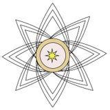 Farbloses Logo der Blume für Maschineriegeschäft Stockbild