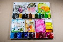 Farbmalereipalette Lizenzfreies Stockbild