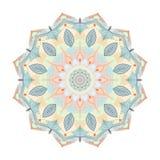 Farbmandala-Blumenform für Visitenkarten flayers Fahnen Lizenzfreies Stockfoto