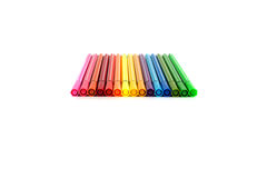 Farbmarkierungs-Stifte lokalisiert Lizenzfreie Stockbilder