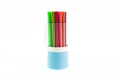 Farbmarkierungs-Stifte lokalisiert Stockfotografie