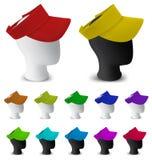 Farbmaskenschablone auf Mannequinkopf Stockfotos