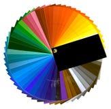 Farbmuster-Ausschnitt Stockfotos