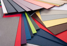 Farbmuster des Papiers Stockfotos