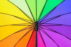 Farbmuster eines Regenschirmes Lizenzfreies Stockfoto