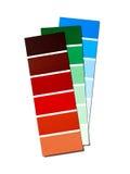 Farbmuster lokalisiert auf Weiß Lizenzfreie Stockfotos