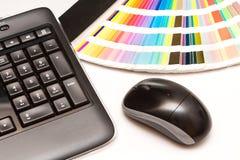 FarbMuster und Computertastatur, Maus Lizenzfreies Stockbild