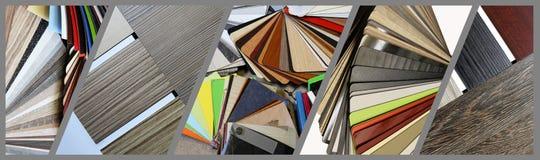 Farbmuster von Countertops Stockfoto