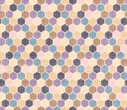 Farbmuster von Polygonen Stockfotografie