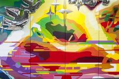 Farbmusterwand-Hintergrundbeschaffenheit Lizenzfreie Stockbilder