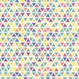 Farbnahtloses Dreieckmuster Lizenzfreies Stockbild