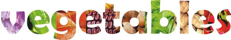 Farbobst und gemüse - Frische Nahrung Konzept collage stockfotos
