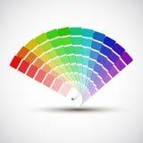 Farbpalette auf weißem Hintergrund Stockfotografie