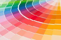Farbpalette, Farbführer, Farbenproben, Farbkatalog Lizenzfreie Stockfotografie