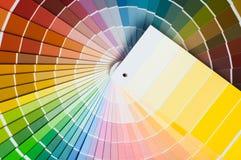 Farbpalette, Farbführer, Farbenproben, Farbkatalog Lizenzfreie Stockbilder