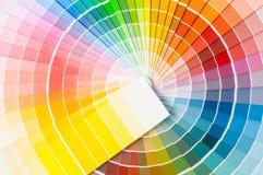 Farbpalette, Farbführer, Farbenproben, Farbkatalog Stockfotos