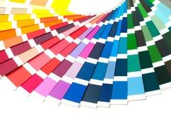 Farbpalette, Farbführer, Farbenproben, Farbkatalog Lizenzfreies Stockbild