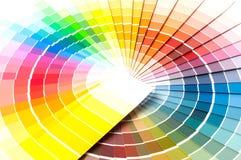 Farbpalette, Farbführer, Farbenproben, Farbkatalog Stockbild