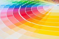 Farbpalette, Farbführer, Farbenproben, Farbkatalog Lizenzfreie Stockfotos